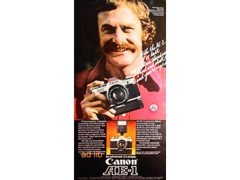 CANON AE-1 - SO ADVANCED IT'S SIMPLE TIDNINGSANNONS Retro 1976