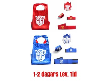 2-PACK Transformer, mask & cape, maskerad, pj