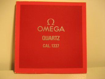 OMEGA Manual. Cal. 1337 Quartz
