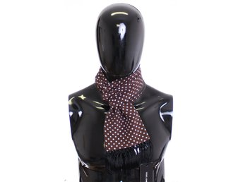 Dolce & Gabbana - Scarf Men's Brown Polka Dotted Silk Wool