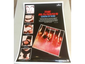 THE RUNAWAYS QUEENS OF NOISE 1977 PROMO POSTER