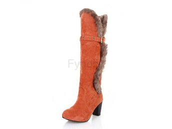 Dam Boots Winter Boots Sexy Leisure Shoes Woman Orange 40