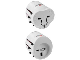 extension socket 10-way silver 2m H05VV-F 3G1,5 each 5 sockets switch