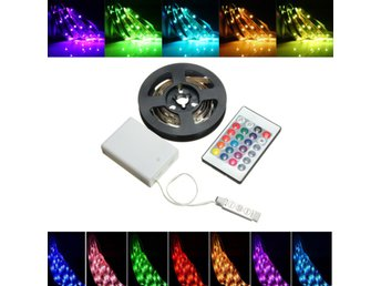 Battery Powered RGB Non-Waterproof LED Flexible Tape Rope...