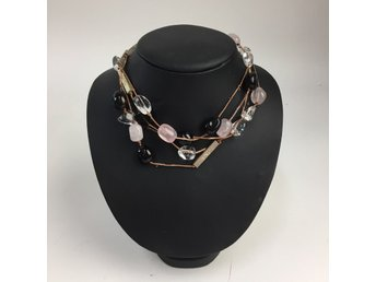 Snö of Sweden, Halsband, Svart/Transparent/Rosa/Vit