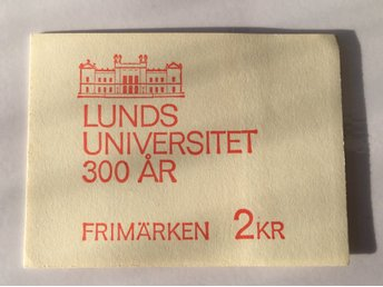 Frimärkshäfte H206 Lunds Universitet