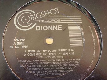 "DIONNE - COME GET MY LOVIN 12"" 1989"