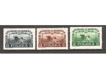 POLEN 1948 - Mi-487-89 - CYKEL LOPP ** - KV 9€ - Kristianstad - POLEN 1948 - Mi-487-89 - CYKEL LOPP ** - KV 9€ - Kristianstad