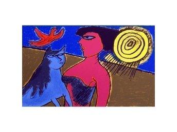 Corneille - litografi med titlen L'amour au jour le jour VII - Hedehusene - Danmark - Corneille (1922 - ) den kendte hollandsk/franske Cobramaler. Medstifter af Cobrabevægelsen.Titel: L'amour au jour le jour VII . Bladmål: 42 x 58 cm - originalt signeret Corneille og nummereret i bly.Corneilles værker er vist i  - Hedehusene - Danmark