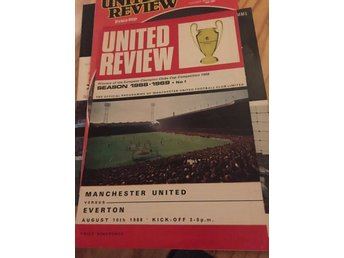 FOTBOLL Program Manchester United FC v Everton FC 10/8 1968 George Best