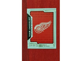 #565 Detroit Red Wings Team Checklist NHL Samlarkort O-Pee-Chee 18-19