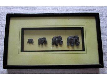 Afrika, Liten Tavla, Elefanter. Storlek 33 cm x19 - Edsbyn - Afrika, Liten Tavla, Elefanter. Storlek 33 cm x19 - Edsbyn