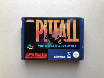 Pitfall The Mayan Adventure EUR CIB SNES Svensksålt
