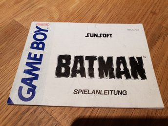Batman NOE Manual GAME BOY