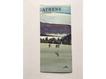 Karta Aten Grekland.Karta Aten Grekland 342483966 ᐈ Kop Pa Tradera