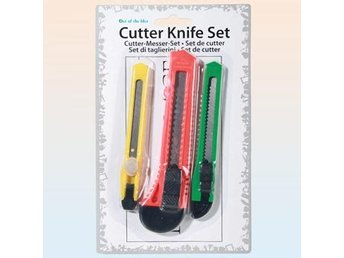 Cutter Knife set 3 sizes / Knivset