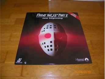 Friday the 13TH - A new beginning - 1st laserdisc