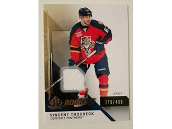 2014-15 SP Game Used Gold Jerseys #116 Vincent Trocheck /499 - Florida Panthers - Linköping - 2014-15 SP Game Used Gold Jerseys #116 Vincent Trocheck /499 - Florida Panthers - Linköping