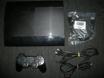 PS3 Superslim 500GB Trådlös Handkontroll (HDMI)