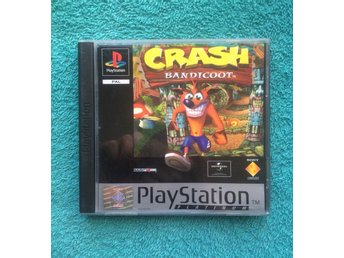 Crash Bandicoot PS1 Playstation PAL Europeisk utgåva BRA SKICK!