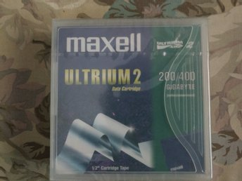 "Maxwell Ultrium 2 Data Cartridge LTO 200/400 Gigabyte 1/2"" Cartridge tape"