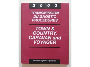 Chrysler service manual transmission diagnostic procsedures 2003