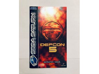 Defcon 5 (Engelsk manual Sega Saturn)