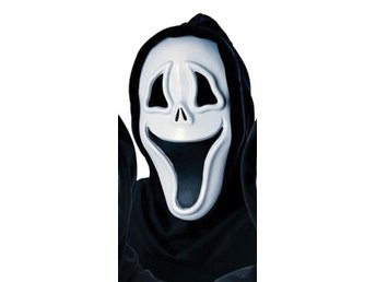 HALLOWEEN Lurig Scream mask spöke våldnad