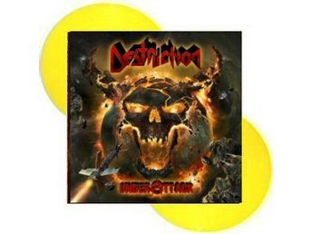 Destruction -Under attack DLP yellow vinly ltd 500 co Thrash