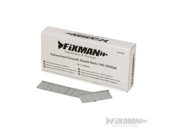 Fixman Galvanised Smooth Shank Nails 18 Gauge 5000pk 19 x 1.25mm Long