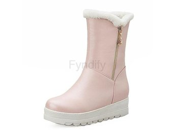 Dam Boots Fur Women Snow Boots Slip-on Big Size 43 pink 40