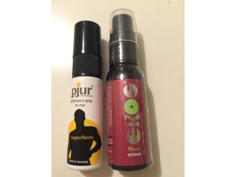 Sexleksak, Pjur spray och Eros relax woman spray