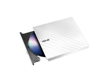 DVD±RW ASUS DVD Recorder 8xR/RW External USB2.0 Slim w/Power2Go White Retail