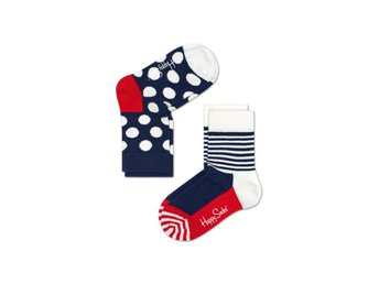 Happy Socks 2-Pack barnstrumpor Big Dot Socks (4-6 år)
