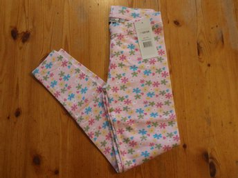 Nya leggings, blommor, 122/128