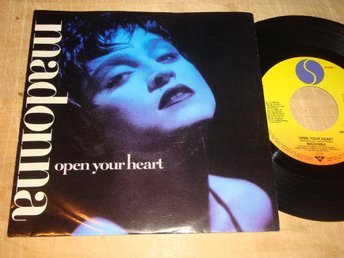 "MADONNA - OPEN YOUR HEART 7"" 1986"