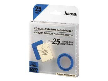 HAMA CD DVD-Ficka I PP  Transparent 25-Pack