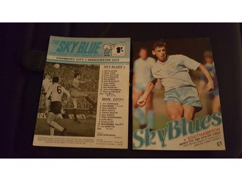 Program Coventry v Manchester City 1967 & Southampton 1989