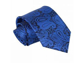 Blå paisley (Royal blue) mönstrad slips _ Regular