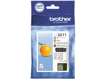 Brother LC3211VALDR, Value pack (BK,C,M,Y) 200 pages