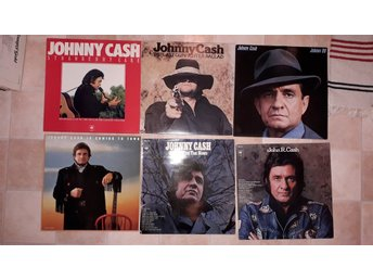 JOHNNY CASH LP 6st - STRAWBERRY CAKE Last gunfighter ANY OLD WIND THAT BLOWS +3