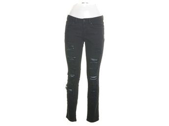 Perfect Jeans Gina Tricot, Jeans, Strl: 28, Sabrine Ripped Jeans, Svart