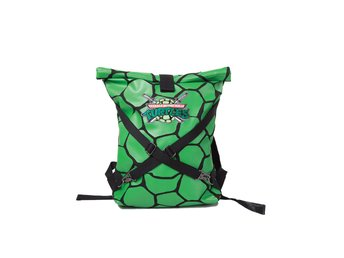 Ryggsäck - TV - Turtles - Green Folded Backpack with Cross Strap