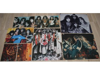 7 KISS posters from POPFOTO magazine Netherlands.