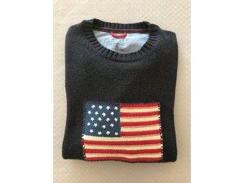 GANT Crispy Cotton Flag Crew Sweater Navy Melange XL