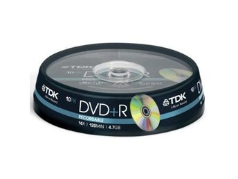 TDK DVD+R 4.7GB 10-p cakebox