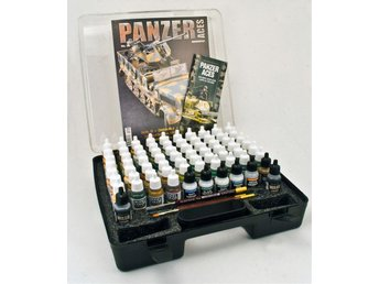 Vallejo Model Color Panzer Aces Range Box Set (72 färger, 3st penslar)