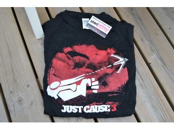 "Just Cause 3 T-shirt (S) Svart/Röd ""Grapple Hook"" Shirtpunch Exklusiv Ny"