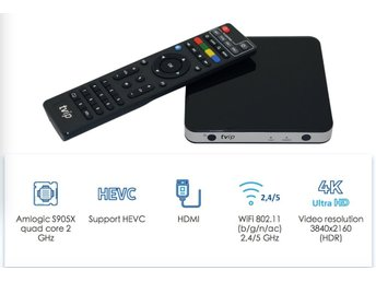 Dubbel system TVIP V605 4K ULTRA HD med Dual wifi set-top box