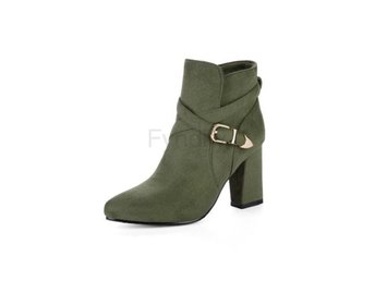 Dam Boots women Causal Shoes Suede Thick heel CR410 G 40